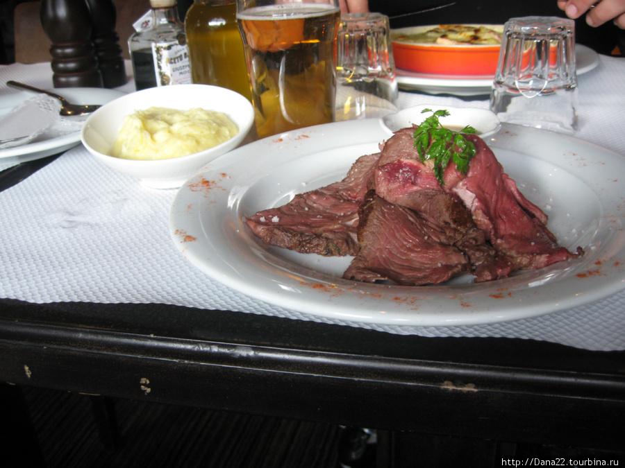 Сырое мясо. Бе.