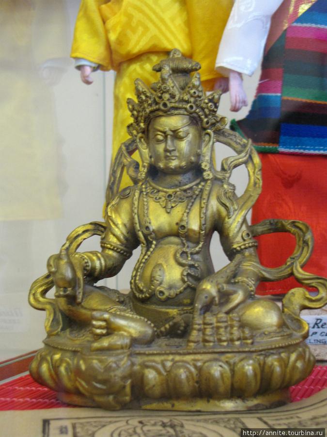 Тибет. Буддийское божество. Бронза.