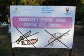 Вход в парк с ножами и пистолетами запрещен!
