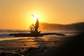 Закат на пляже Хермоза