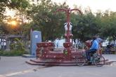 Фонтан на центральной площади Риваса