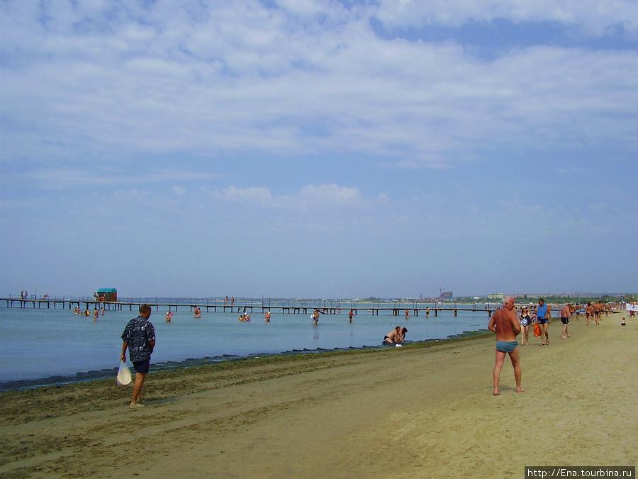 На центральном пляже Анапы