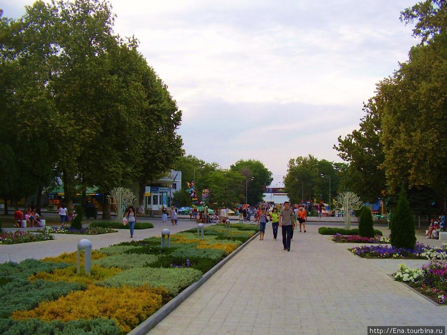 По зеленым улицам Анапы