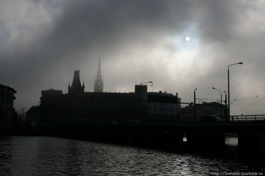 Стокгольм в тумане