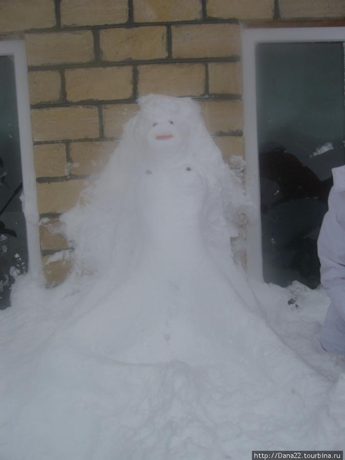 Мы лепили снеговик...