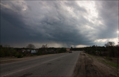 По дороге в Пет нас накрыло дождем