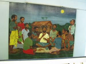Религиозные картины (иконы) в церквях — в папуасском стиле!