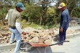 Идет строительство дороги на острове Ометепе