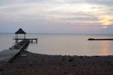 Закат на берегу озера Никарагуа