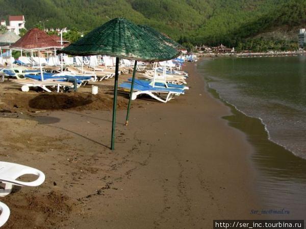 Городской пляж после дождя