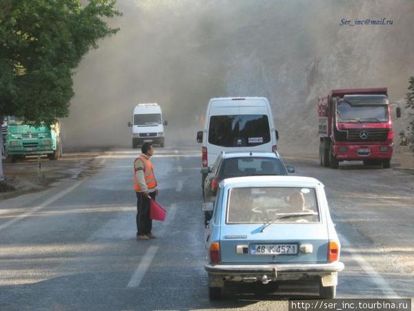 Дорожные работы на перевале