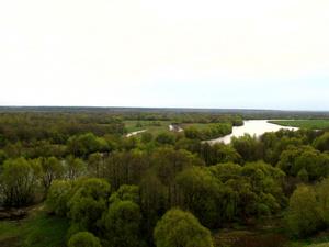 Такой вид открывается с холмов Свенского монастыря...