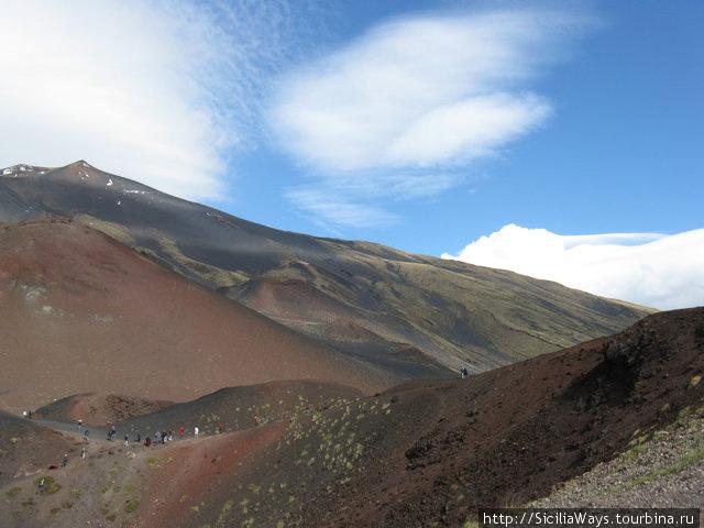 Кратеры Сильвестри, высота около 1900 м