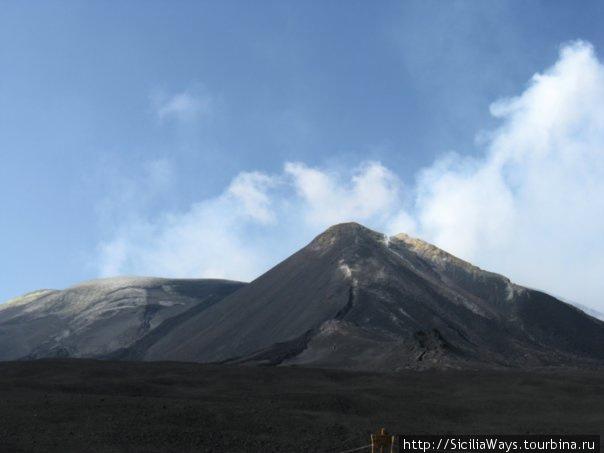 Самая вершина, восточный центральный кратер, высота около 3350 м.