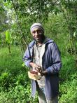 С этим мужиком я приехал автостопом в Маунт-Хаген из села Вайгар, он же меня и вписал в своей хижине