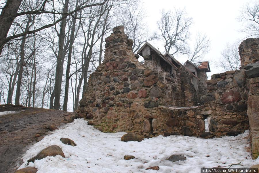 Остатки замка  Лиелварде