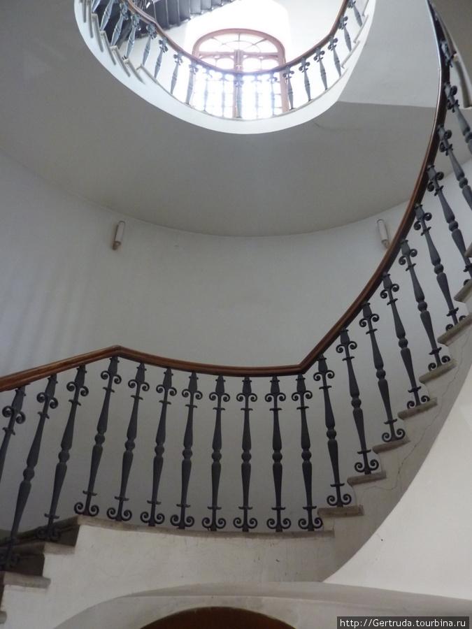 Винтовая лестница, ведущая на третий ярус, в  главный зал Петрикирхе.