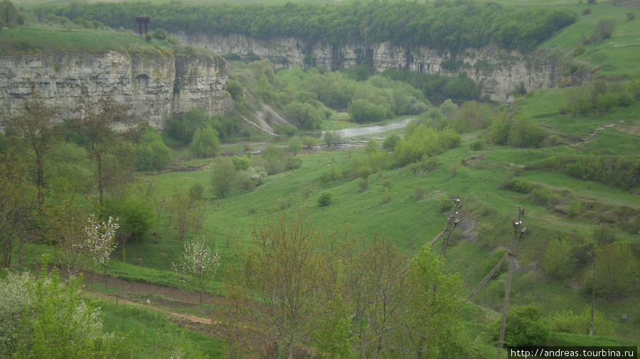 Вид на каньон с моста через Смотрич