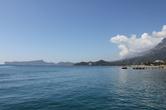Виды на горы с отельного пляжа