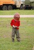 кто-то примерял шлем..