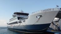 В порту главного города на острове — Тасос