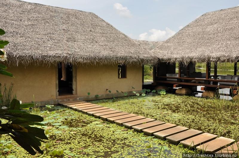 Эти хижины — не часть ланкийской деревни после проливных муссонных дождей, что несут живительную влагу землям