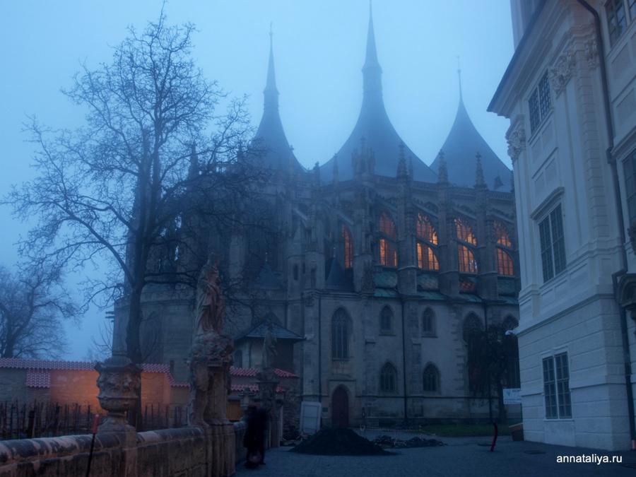 Собор святой Варвары — покровительницы горняков и шахтеров