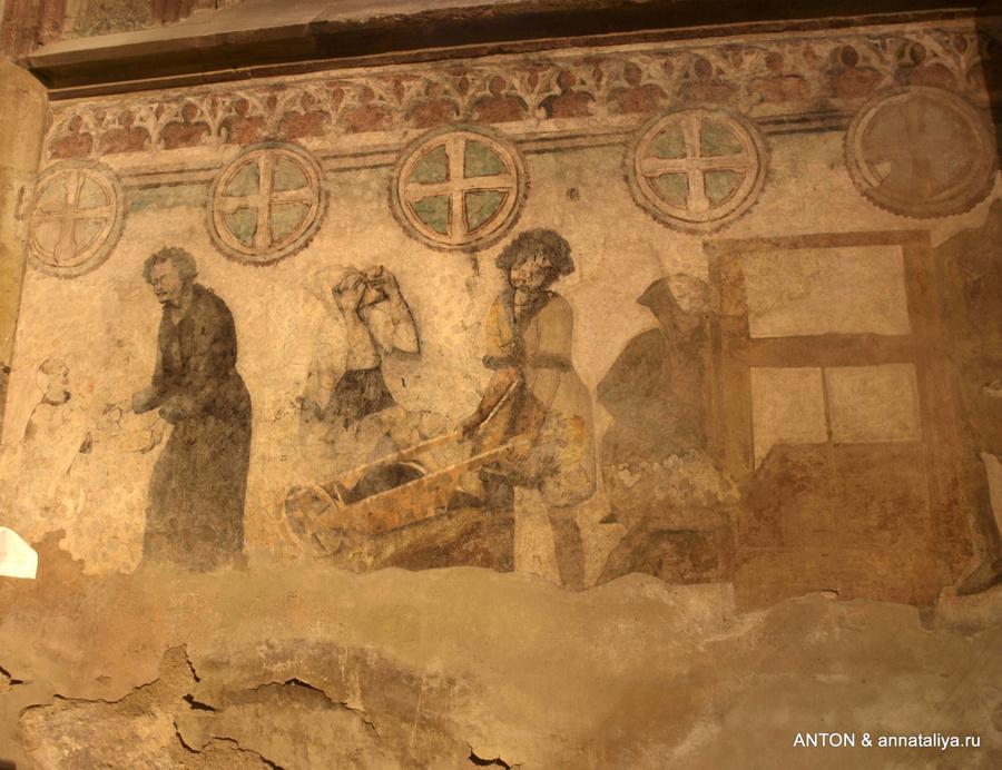 Росписи в храме святой Варвары