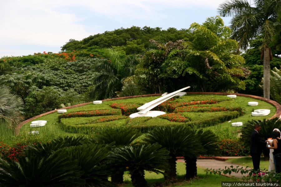Цветочные часы в Ботаническом саду