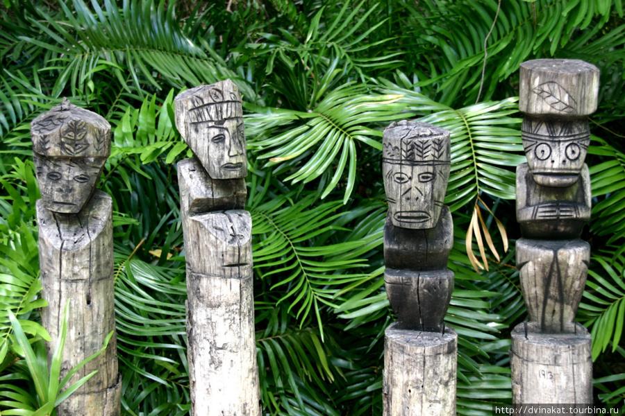 Остатки индейской цивилизации народа Таинос