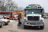 Стоянка автобусов у центральной площади