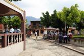 На центральной площади Апанеки