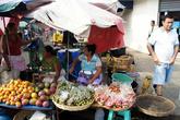 Рынок на улице в центре Чалчуапы