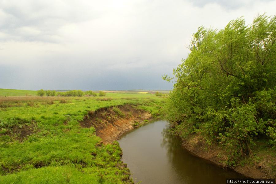 Где-то в этом месте была пасека, мы с друзьями детства там иногда бывали, тут же купались в речке.