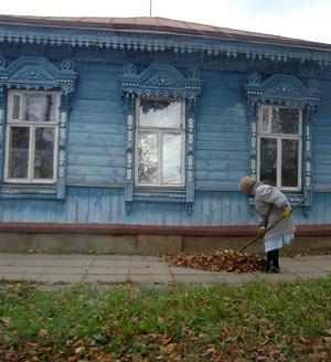 Единственная фотография из всего альбома, которая сделана в Суздале осенью.