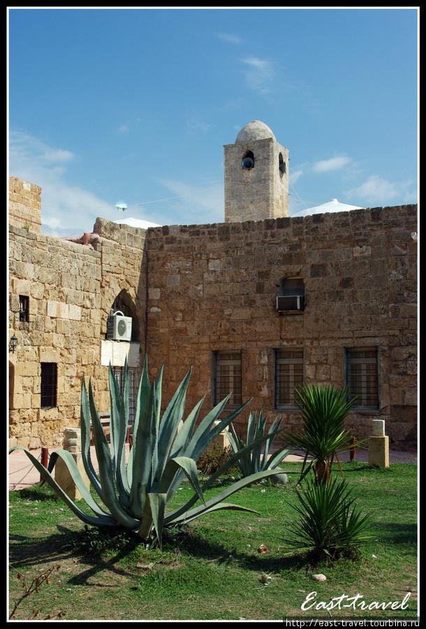 Внутренний двор с видом на минарет