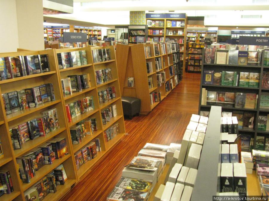 Книжные полки в магазине, Джакарта