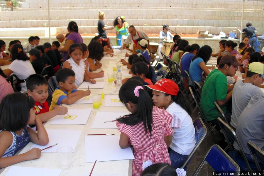 Конкурс детских рисунков Оахака, Мексика