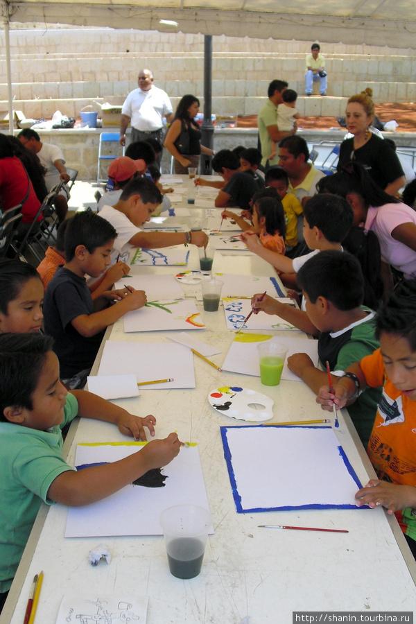 Конкурс детского рисунка Оахака, Мексика
