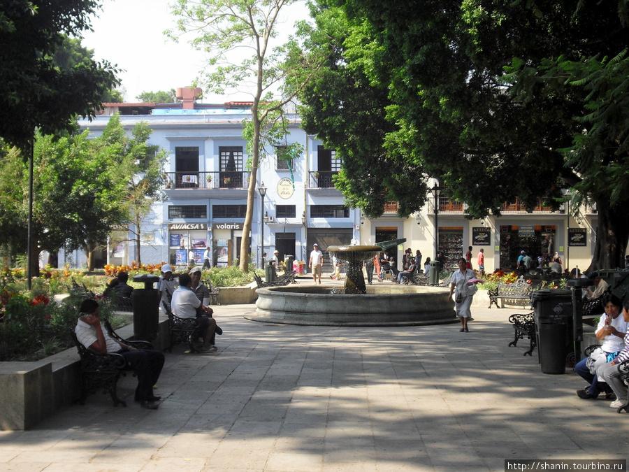 Площадь перед кафедральным собором в Оахаке Оахака, Мексика