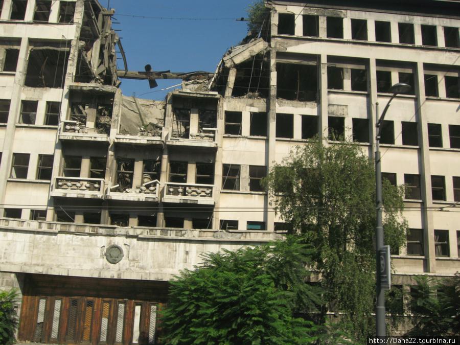 Разрушительные последствия точечных бомбардировок