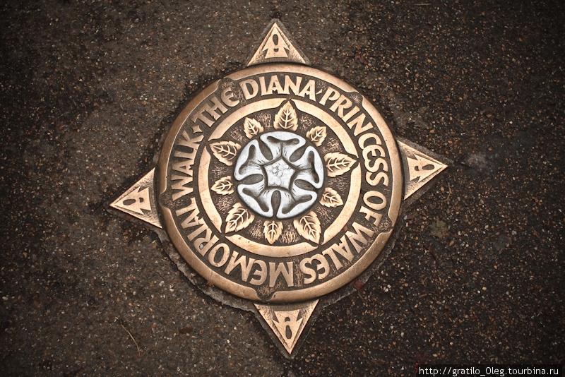 Через парк проложена мемориальная тропа имени Принцессы Дианы