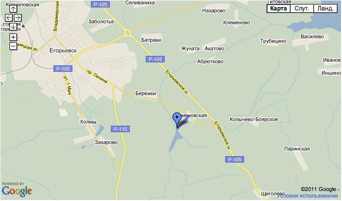 Схема проезда к деревне Семеновская и вейк-клубу