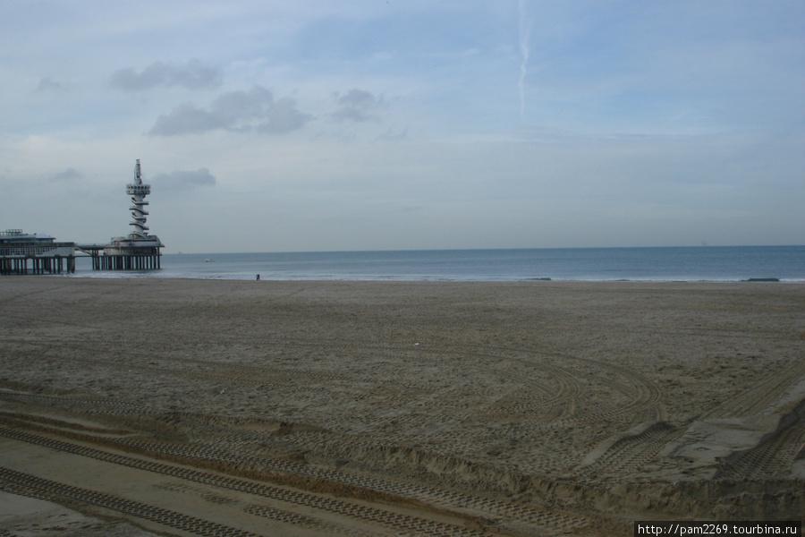 Пляж в Гааге. Северное море (Гаага, Нидерланды)