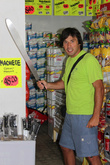 Граница с Гватемалой близка, мачете продаются в обычных магазинах среди продуктов, цена около 5 долларов