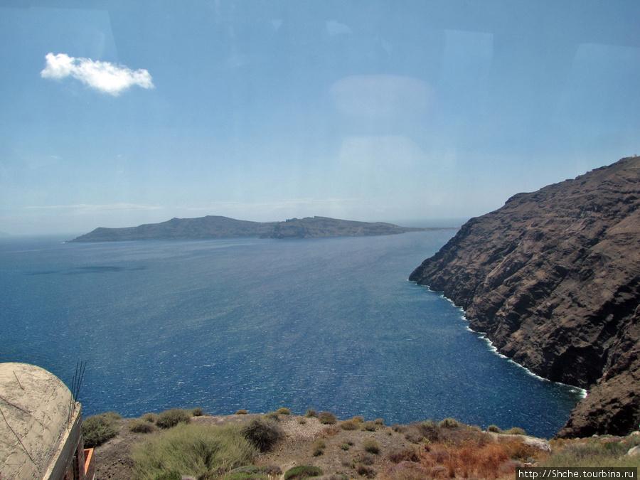 Кальдера вулкана, фото из автобуса