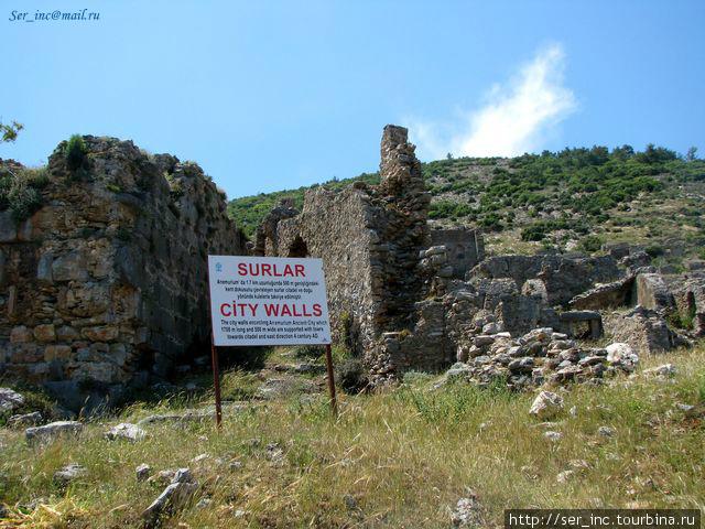 Остатки городских стен