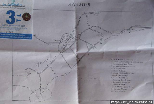 План-схема как добраться в antic city