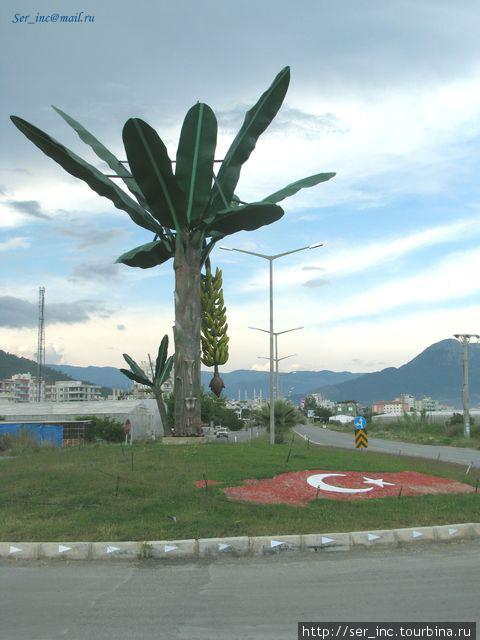 Символ Анемуриума на главной городской автомагистрали D-400