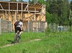 К декорациям мы добирались на велосипедах, ехали через лес от Волоколамского шоссе, и вскоре вдали стали проступать виды декораций...